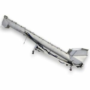 Used 18 Dia X 23 Long Portable Mtc Stainless Inclined Screw Auger Conveyor