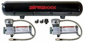 Air Compressors Pewter 400 Dual Pack 5 Gallon Steel Air Tank 90 Psi On 120 Off