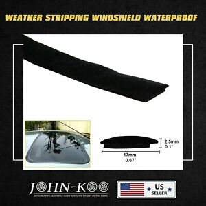 30ft Rubber Strip Seal Edge Trim Car Front Rear Windshield Sunroof Protector
