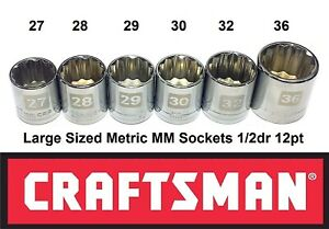 Large Sized 1 2 Drive 12 Point Metric Socket Set 1 2 Inch 1 2dr 12pt Big Size