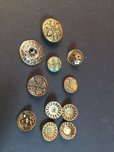 Lot Of Small Metal Antique Buttons