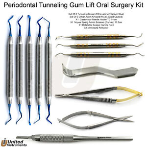 Premium Tunneling Kit Periodontal Flap Tissue Surgery Sinus Gum Lifting Elevator
