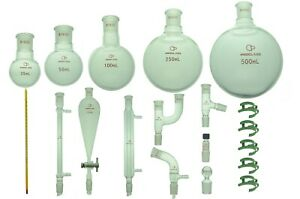 Proglass Glass Primay Organic Chemistry Kit 19 22 Lab Glassware Set