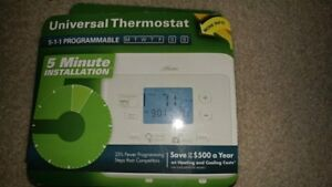 1 hunter 5 1 1 Progammable Thermostat Gas Oil Elec Heat Pump 44273