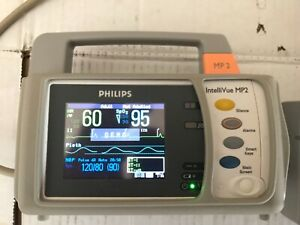 Philips Intellivue Mp2 M8102a Bedside Transport Patient Monitor