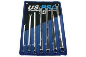 Us Pro 7 Piece Aviation Double Ended Ring Extra Long Spanner Set 8 24mm B3222