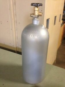 10 Lb Aluminum Co2 Cylinder Tank Reconditioned Fresh Hydro Test Cga320 Valve