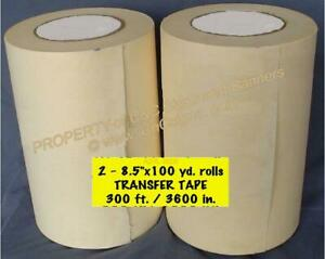 2 Rolls 8 5 Application Transfer Paper Tape 300 Ea For Vinyl Cutter Plotter