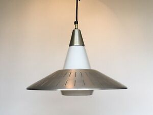 Vintage Imperialite Ufo Flying Saucer Ceiling Light Lamp Mid Century Chandelier