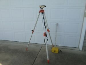 David White Transit Al 22 Auto Level 8883 Tripod 9 Ft telescoping Grade Stick