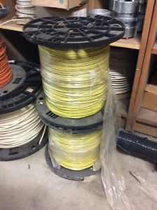 12 Gauge Copper Wire Solid awg Thhn Thwn 600 Volts Yellow 5000 Feet 2x2500