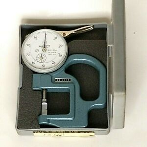 Mitutoyo Dial Thickness Gage No 7315 Older Unit Made In Japan With Box