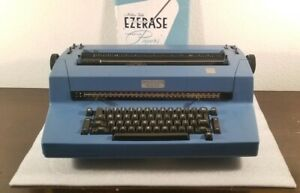Vtg Retro Ibm Selectric Ii Blue Electric Correcting Typewriter return Needs Work
