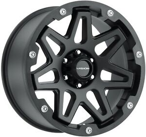 Satin Black 6 Lug 6x135 Leveled Lifted F150 Rims 18x9 12mm Set Of 4 Wheels 18