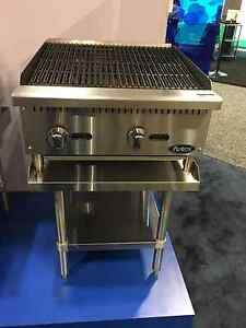 New 24 Lava Rock Char Broiler With Stainless Equipment Stand Package Deal Gas