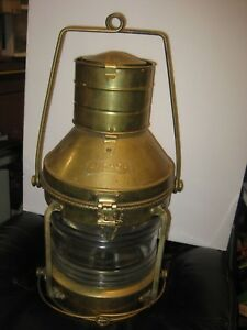 Vintage Brass Ship Anchor Boat Lamp Ship Lantern Oil Lamp Nautacal Lamp