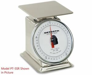 Detecto Pt 5 sr Rotating Dial Top Loading Scale 5 Lb Capacity