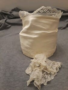 Vintage Victorian Exquisite White Silk Lace Dress Collar