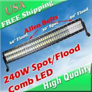 42 44 Inch Led Offroad Light Bar For Jeep Grand Cherokee Toyota Fj Cruiser