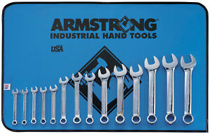 Metric Wrench Set Combo 12pt Fp Reg 14pc Armstrong Tools 6 19mm 52 619