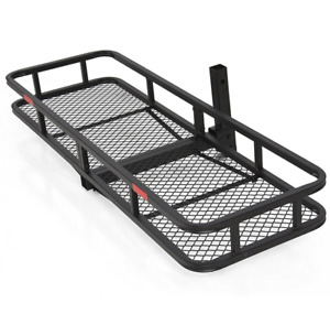 Folding Cargo Carrier Luggage Rack Truck Suv Trailer 2 Receiver Hitch Hauler