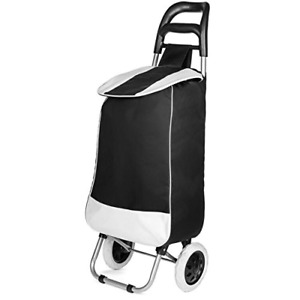 Lightweight Wheeled Shopping Trolley Bag Heavy Duty Collapsible Rolling Cart