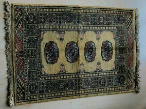 Vintage Antique Persian Wool Prayer Rug Rust 26 Inches X 36 Inchesv