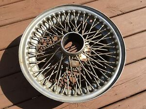 Jaguar Xke Chrome Wire Wheel Rsm68n Used Orig 15 Ms Mark Two E Type