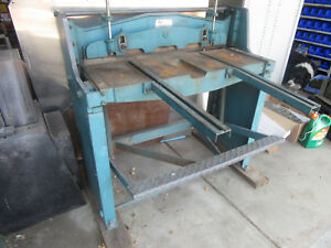 Stomp Shear Roper Whitney Sheet Metal Fabrication 36 fs Manual W Feeder Arms