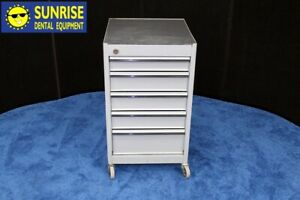 Mobile Dental Cart By Snap on Tools W 5 Drawers medium Gray