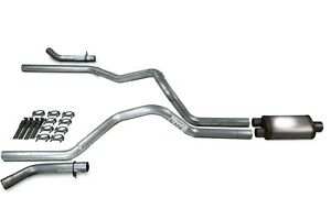 Chevy Gmc 1500 Truck 96 99 2 5 Dual Exhaust Kit Stainless Muffler Corner Exit