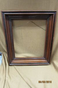 Vintage Antique Wood Picture Mirror Frame Shadow Box Solid Wood