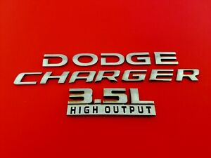 06 07 08 09 10 Dodge Charger 3 5l High Output Rear Emblem Badge Logo Set Oem 09