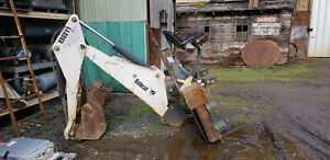 Bobcat 8811 Backhoe Attachment For Skid Steer Loader With 2 Buckets