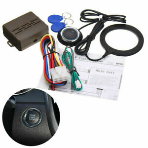 Car Ignition Switch 12v Rfid Engine Start Push Button Keyless Entry Starter Fk