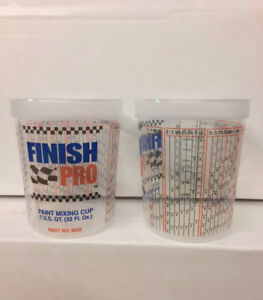 5 1 Quart 32oz Paint Mix Cups Calibrated Mixing Ratios Oz On Side Of Cup