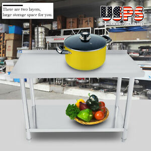 New Work Table Stainless Steel Food Prep Commercial Kitchen Restaurant 24 X 48