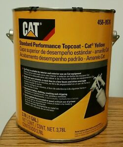 Genuine Oem Cat Yellow One 1 Gallon New Caterpillar Paint 458 9576 Implement