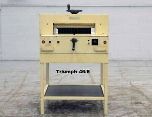 Triumph Paper Cutter Electric 18 Model Ideal Forte 48 e 3 Blades Included