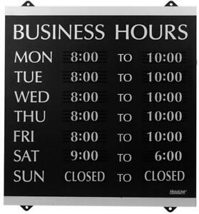 Headline Sign Century Series Business Hours With 176 1 4 characters