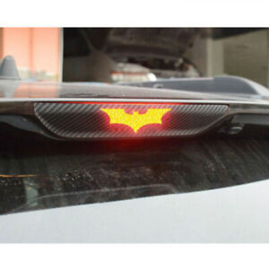 3pcs Car 3d Batman Carbon Fiber Sticker Brake Tail Light Decal Accessories Diy