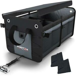 Car Trunk Organizer By Fortem Heavy Duty Collapsible Cargo Storage