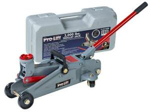 Pro lift F 2315pe Grey Hydraulic Trolley Jack Car Lift With Blow Molded Case