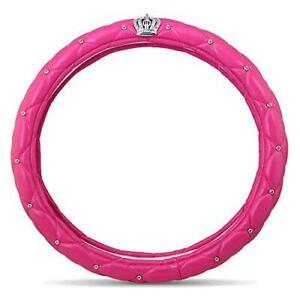 Fangfei Car Steering Wheel Cover For Girls Women Cute And Pink Natural