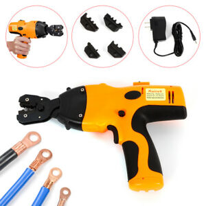 Dc 7 2v Crimping Tool Plier For Wire Terminals 12ton Force 4 Dies 0 5 6mm