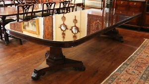 Superb Banded 54 Inch Wide Banded Mahogany Banquet Dining Conference Table 3 Lvs