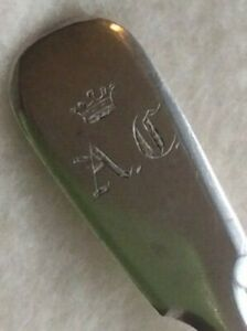 Old 1864 Romanov Crown Silver 84 Monogram Spoon Russian Empire Antiques Russia