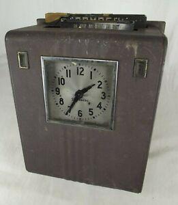 Vintage Stromberg Time Clock Punch Clock Recorder Mechanical Steampunk Dials