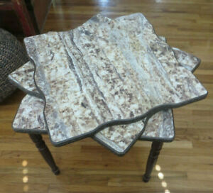 3 Mid Century Formica Stacking Nesting Tables