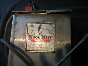 Vintage Kool Mist Coolant Generator Stainless Steel Tank With Hose And Nozzle